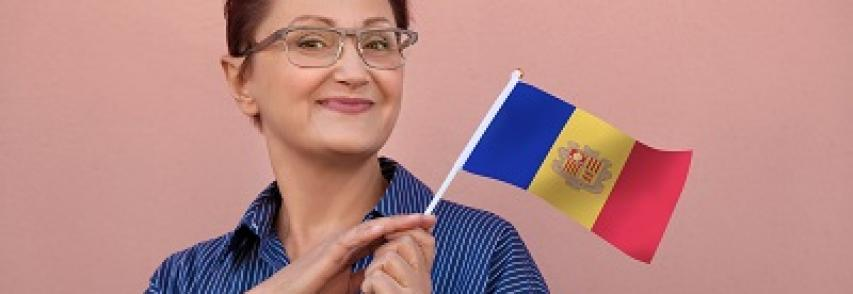Woman-with-flag-Andorra